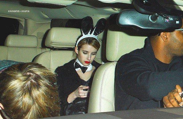 28.10.11  : Emma est partit d'une fête d'Halloween en voiture en laissant Kate Hudson.