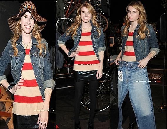 02.11.11 : Emma est allée au Levi célèbre le printemps 2012 Collection.