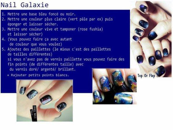 Voila l'explication promise pour le nail art constellation !