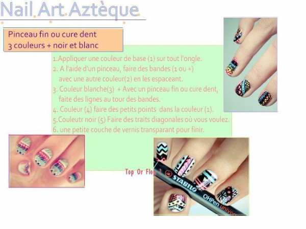 Nail art aztèque <3