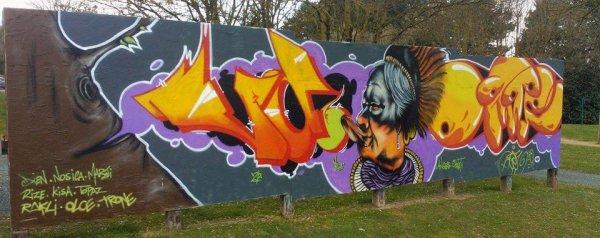 Fresque avec ORGEE sur Cholet