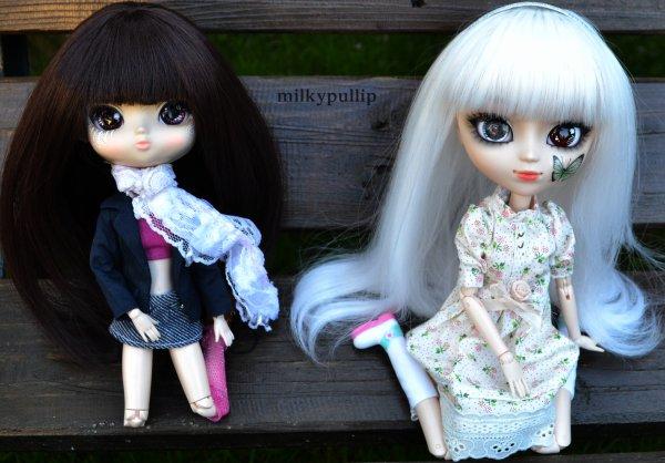 Yurei et Choco dans le jardin de mes grands-parents ^^ partie 1 :3 (comme il fesais beau ce jour là,il fallais e profiter :3)
