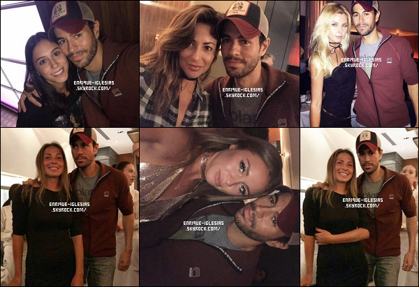 """"""" 01/05/17 - Le beau Enrique Iglesias, à été aperçu dans la soirée, par des fans dînant dans le restaurant « TATEL MIAMI ».   Enrique s'était apparemment rendu au restaurant pour une réunion d'affaires mais le beau latino s'est tout de même arrêter pour prendre des photos !      """""""