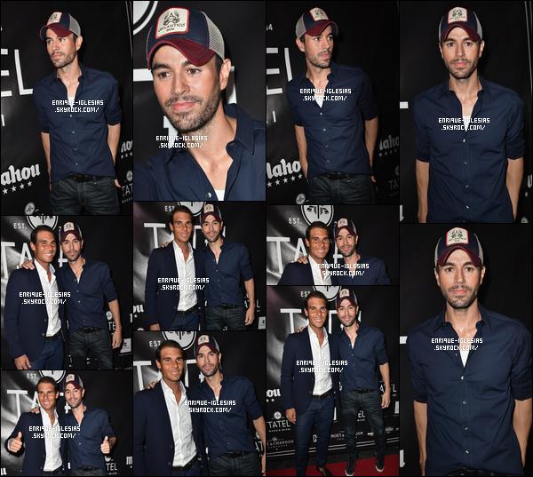 """"""" 20/03/17 - Notre Enrique Iglesias a assisté à la Grande Opening Celebration de « TATEL Miami » à Miami Beach, (Floride).   + Le clip de Súbeme La Radio est maintenant certifié VEVO sur YouTube, ce qui signifie que le clip a atteint plus de 100 millions de vues félicitation !      """""""