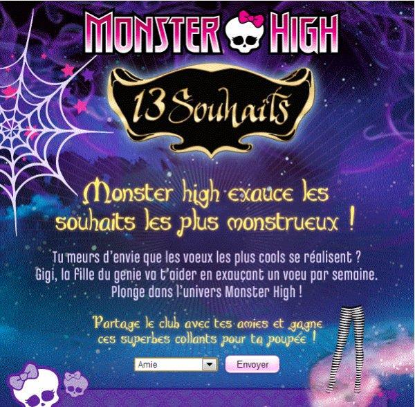Monster high:13 souhaits
