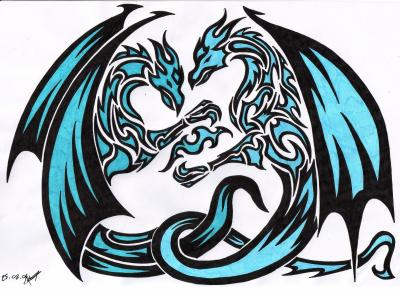Dragon tribal mes dessins - Dessin dragon couleur ...
