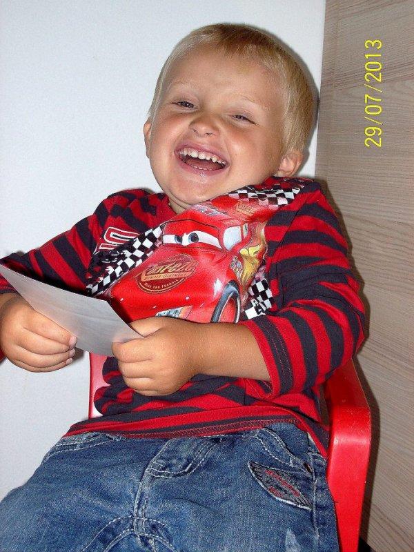 3 ans notre cher petit Maxence le 29 juillet 2013
