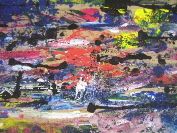 Abstraction. Gouache, acrylique & encre de chine. 2.