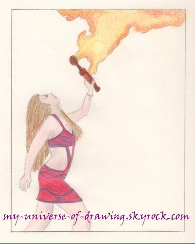 La cracheuse de feu (coloré)