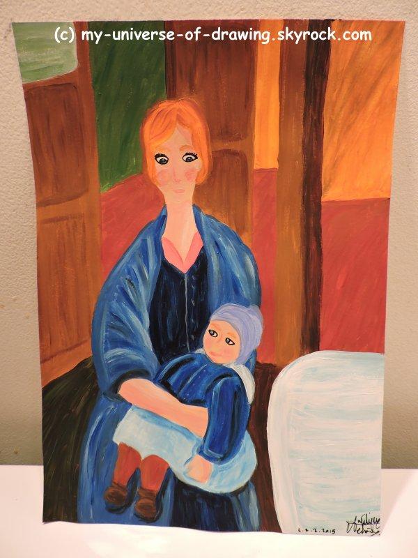 Maternité, d'après Modigliani
