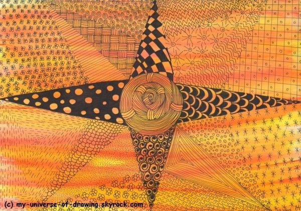 Soleil Zentangle