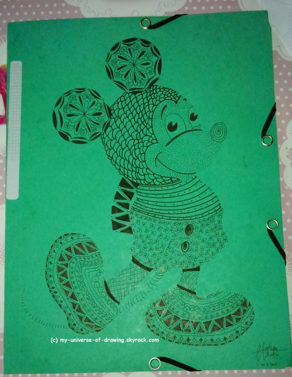 Mickey Zentangle