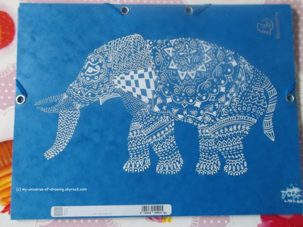 Elephants Zentangles (2)