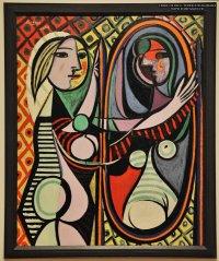 Jeune fille devant un miroir