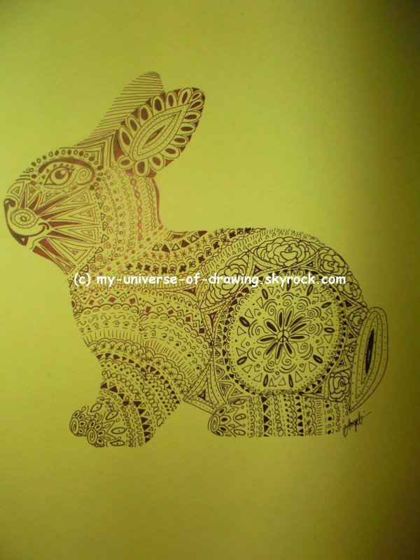 Animaux Zentangle