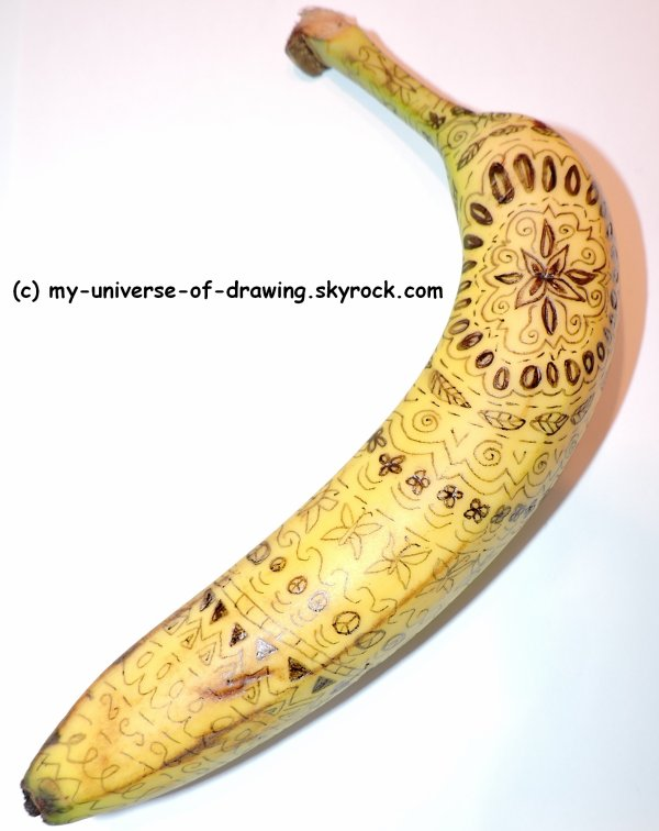 Banane Zentangle