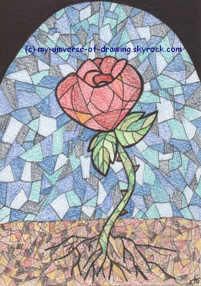Rose façon Vitrail