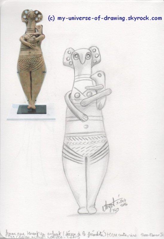 Femme tenant un enfant (déesse de la fécondité)