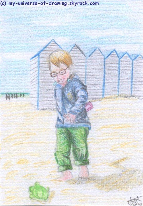 Andy à la mer