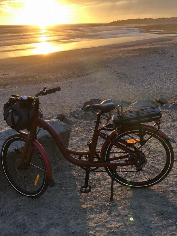 de retour a la mer pour les couchers de soleil de l'equinoxe beintot...