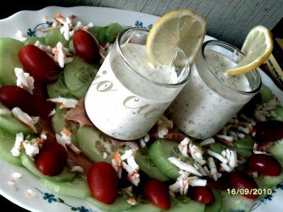 2eme recette : carpaccio de comcombre