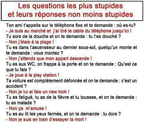 Stupide .... ;-)
