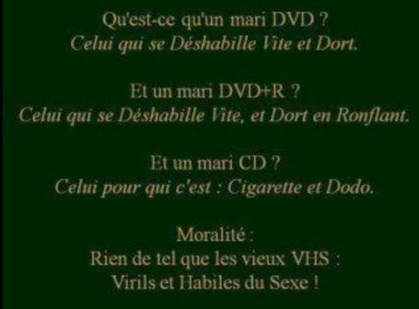 Vive la VHS ....