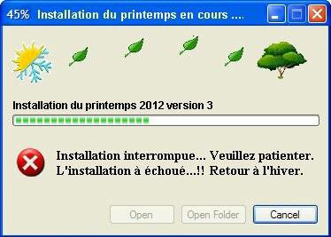 En cours d'installation. ... versions 2012