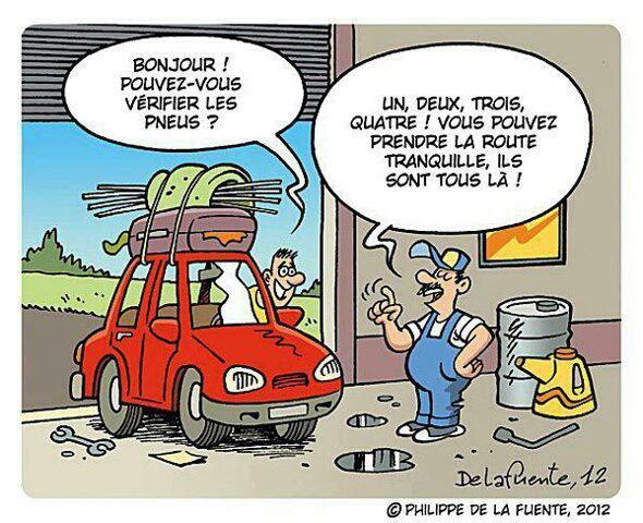 Un pneu d 39 humour un titre pourquoi faire - Image voiture drole ...