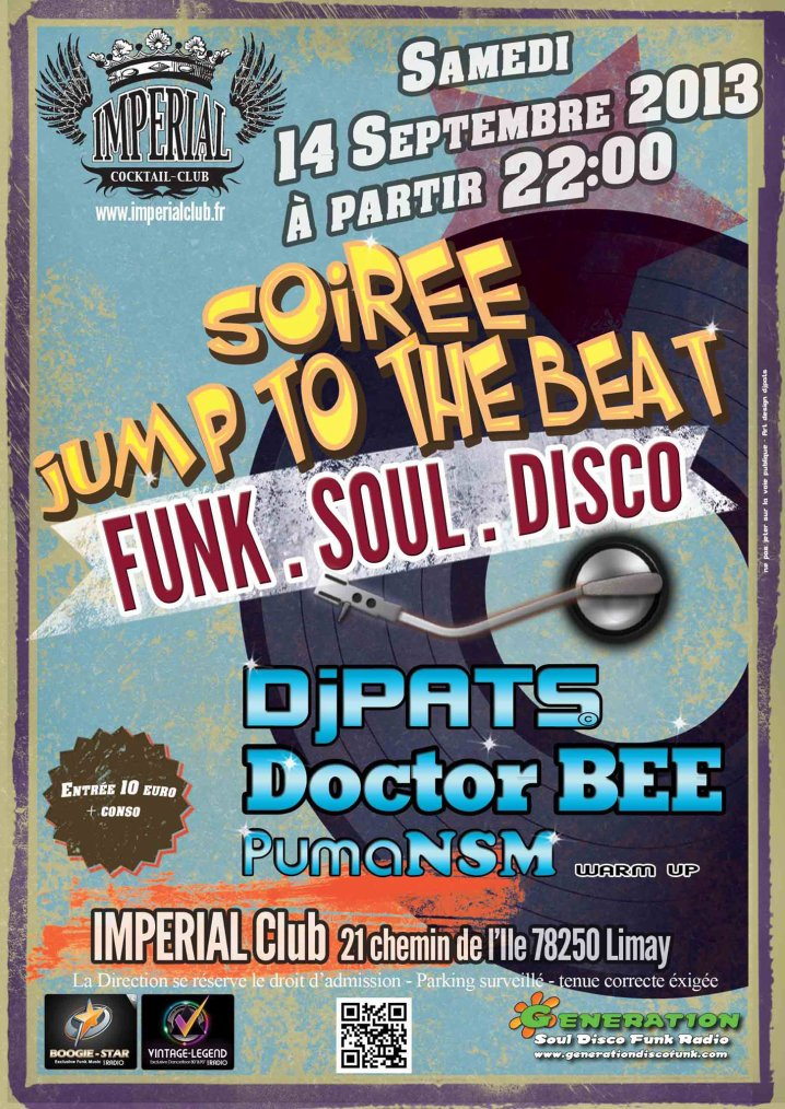 14 Septembre 2013  soirée JUMP TO THE BEAT