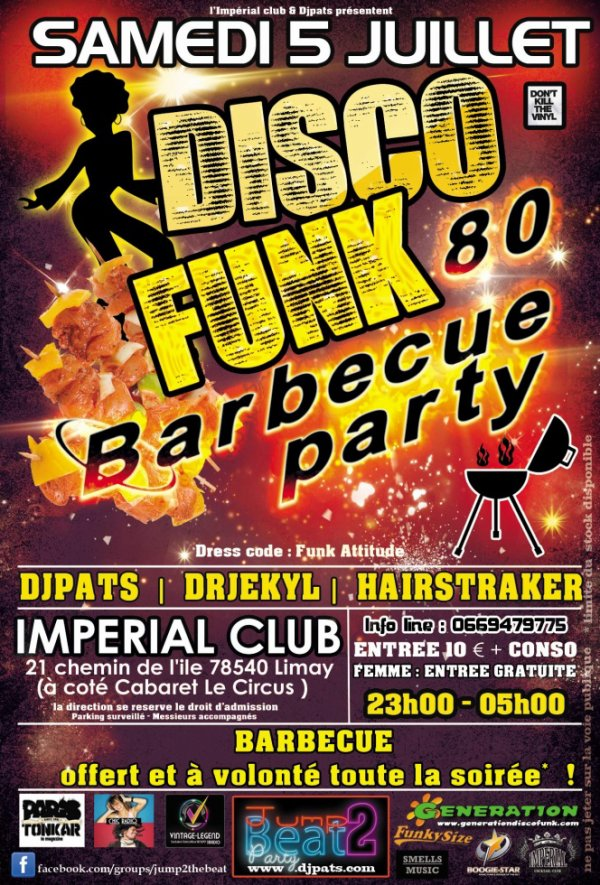 JUMP TO THE BEAT© Funk Barbecue party ★•*