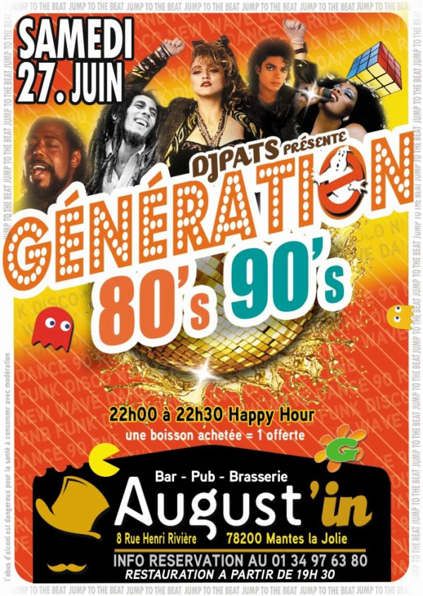 samedi 27 Juin Jump to the beat 80's 90's