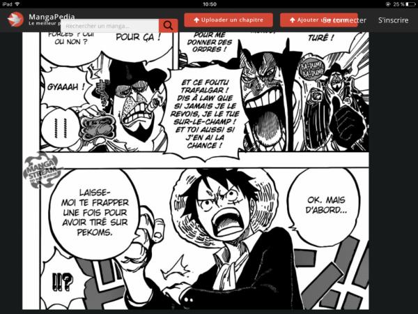 Luffy énervé face à Capone Bege