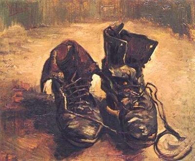 VINCENT  VAN  GOGH  :  SOULIERS  AUX  LACETS   1886,  VAN  GOGH  MUSEUM  AMSTERDAM.