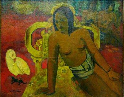 PAUL  GAUGUIN  ( 1848-1903 )  :   VAIRUMATI , 1897 -  MUSEE  D  ' ORSAY.