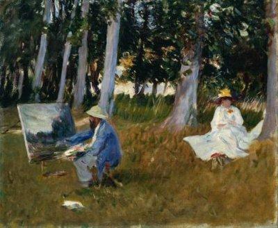 MONET  PEIGNANT  A   L'  OREE   D  ' UN  BOIS  ( 1885 ) , TATE  GALLERY ,  LONDRES.