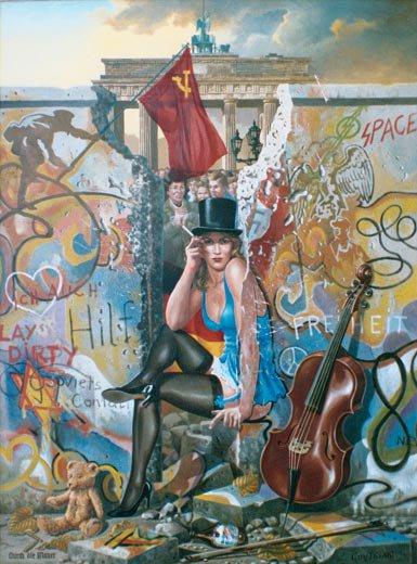 MUR  DE  BERLIN   :   APRES  ( 1989 )  -  LIBERTE