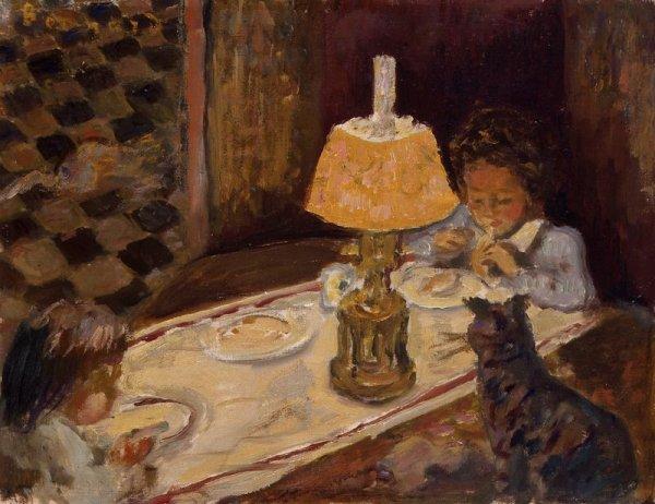 PIERRE  BONNARD  (1867-1947)   :    le déjeûner des enfants  ( ca 1897 )