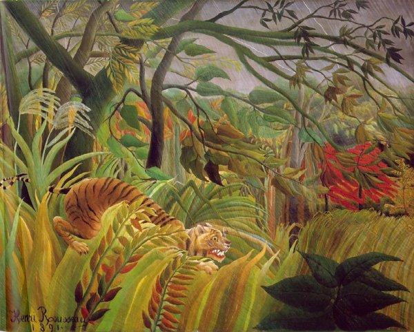 METEO  DU  JOUR ...Journée mondiale de la douane et sur l 'éthique    :   le Douanier Rousseau (1844-1910)   ,  il pleut aussi dans la jungle...