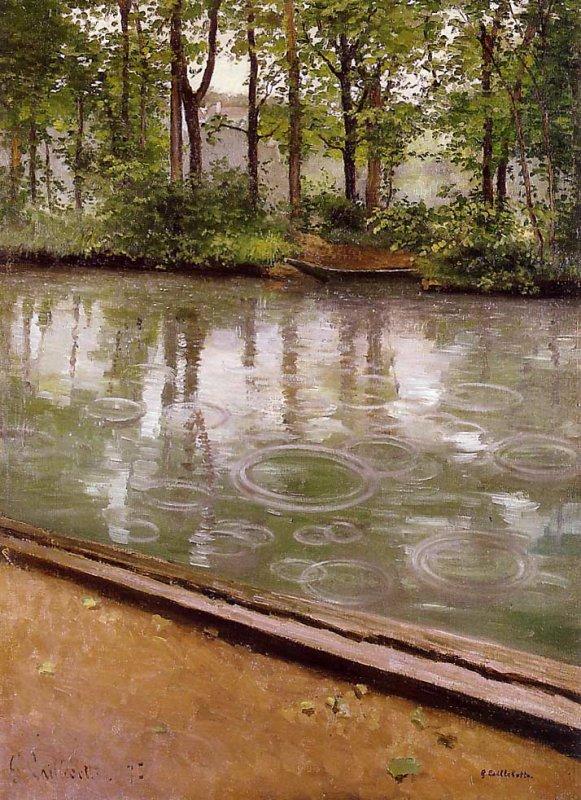 METEO  DU  JOUR ...    ,    Gustave Caillebotte   :  l ' Yerres, effet de pluie ( 1875 )