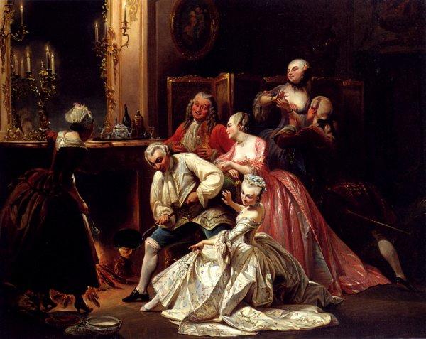 Pierre François Eugène Giraud  (1806-1881)     :    partie de...crèpes