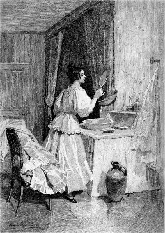 Bonne fête Eugénie....dessin de Daniel Hernandez (1834)