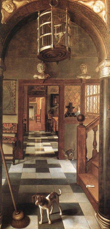 Bon, je vais aller faire un peu de ménage ... , Samuel Van Hoogstraten , peintre hollandais (1627-1678)