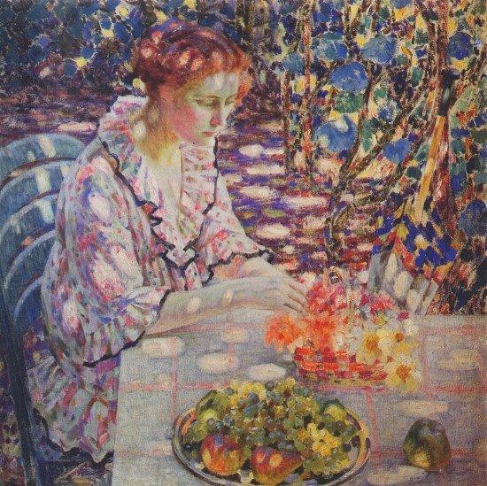2 )  Tableau de Louis Ritman,  peintre américain (1889-1963)