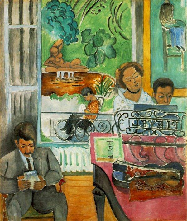 Henri Matisse  ( la leçon de musique )   VS.  Samuel Van Hoogstraten ( voir plus bas ) ...