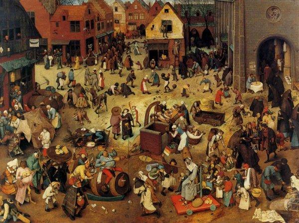 Pierre Bruegel l 'Ancien  :  le combat de carnaval et de carême (1559)