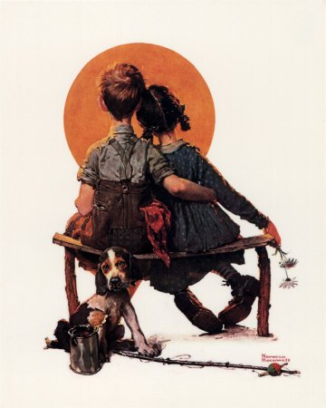 Norman Rockwell   :   First love