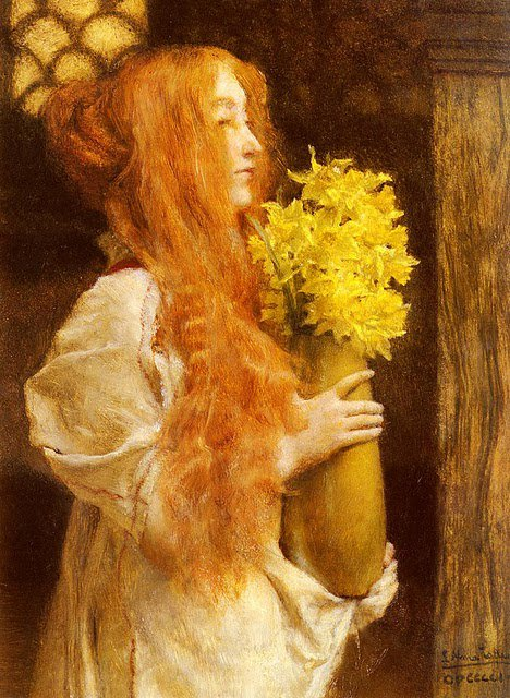 Sir Lawrence Alma Tadema   :  fleurs de printemps