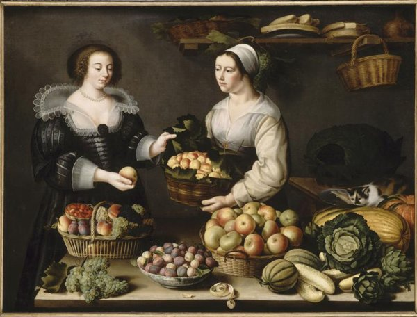 Louise Moillon (1615-1674)  :  la marchande de fruits et légumes.