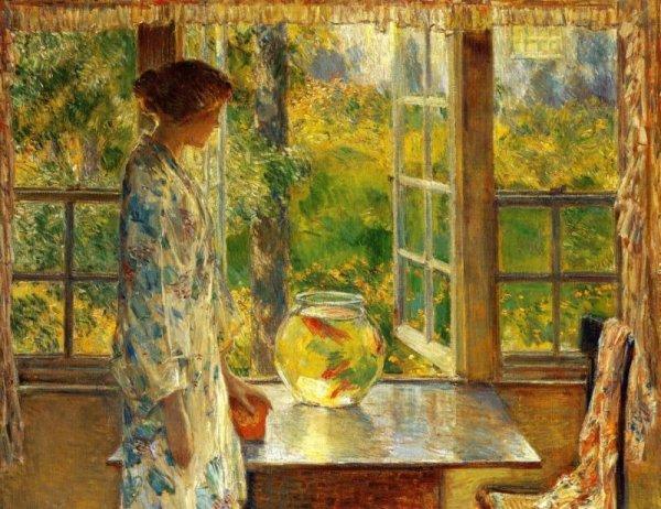 Frederick Childe Hassam  , impressionniste américain (1859-1935)